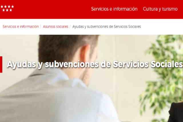 Ayudas y subvenciones de la Comunidad de Madrid en 2019