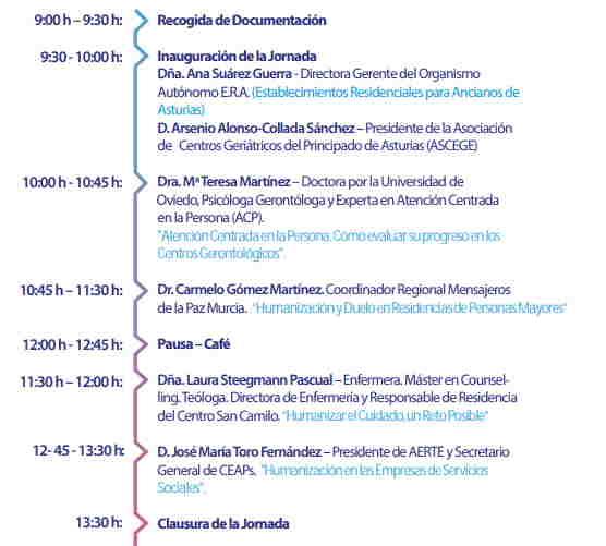 Programa de la Jornada de ASCEGE del 22 de octubre en Oviedo (Asturias).