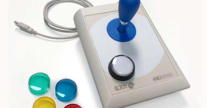 El ratón BJOY de BJ Adaptaciones permite a personas con movilidad reducida utilizar el iPad y iPhone.