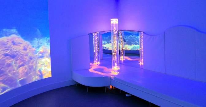 Las salas multisensoriales como las que fabrica e instala BJ Adaptaciones ayudan a personas. F con deterioro cognitivo. Foto DomusVi